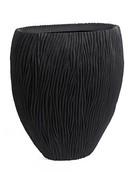 River Vase oval black