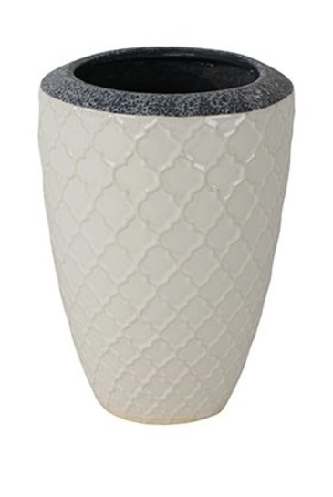 Vase trento white