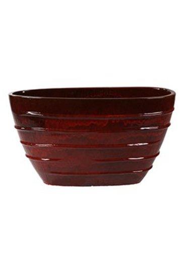 Classic Red Oval Beauty (Keramieken bloembak)