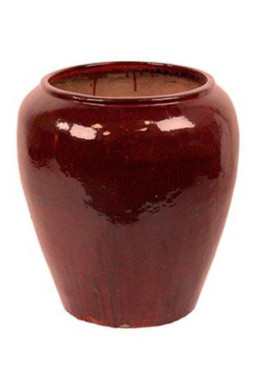 Mystic Pot red black (Keramieken bloembak)
