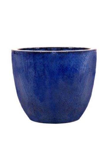 Blauw Couple extra (Keramieken bloembak)