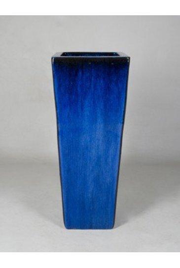 Blauw Kubis (Keramieken bloembak)