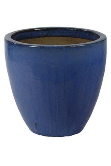 Blauw Couple (Keramieken bloembak)