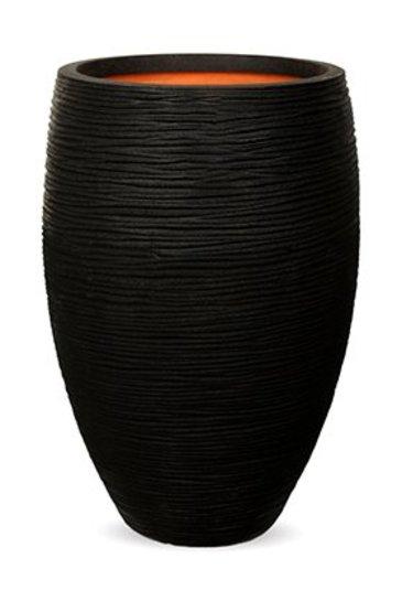 Capi Tutch Rib Vaas elegant deluxe zwart (Capi Europe)