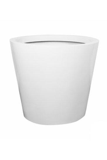 Fiberstone Glossy white jumbo cone L