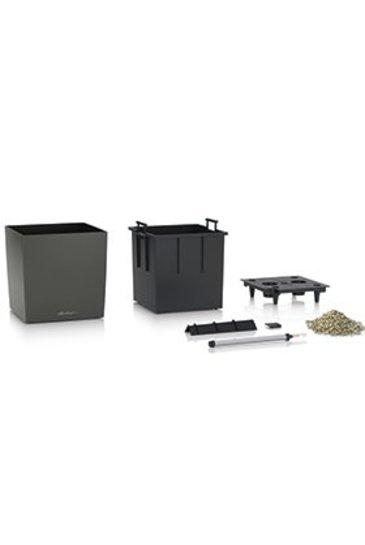 Lechuza Cube Set Antraciet Metallic