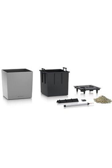 Lechuza Cube Set Zilver Metallic