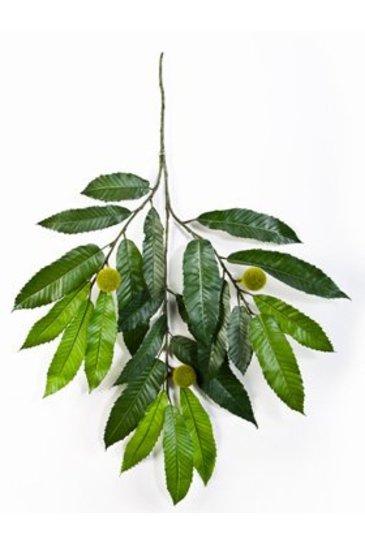 Kunstplant Chestnut spray Round fruits