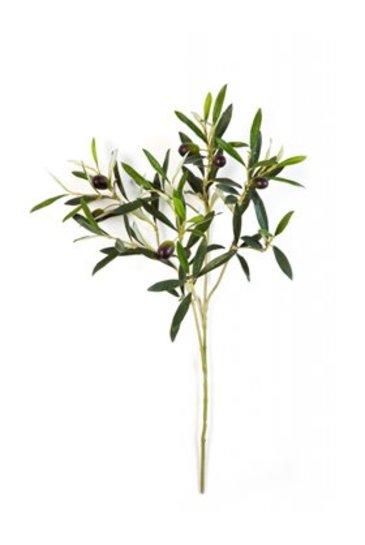 Kunstplant Natural olive spray With fruits