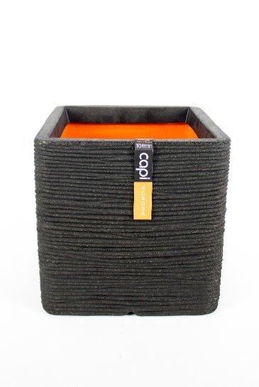 Capi Tutch Rib Pot vierkant zwart (Capi Europe)