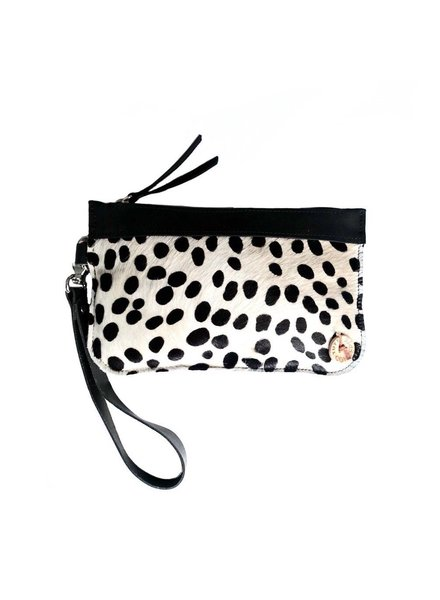 NERO DOTTED CLUTCH