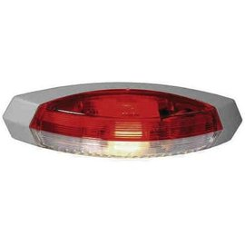 Hella Zijlicht rood/wit opbouw grijs links