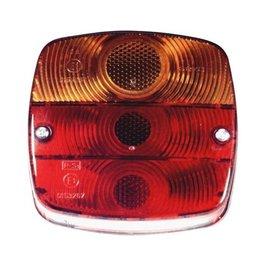 SAW Achterlicht met kentekenverlichting merk SAW 80 mm rond