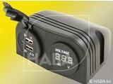 HABA 2X USB lader+Voltmeter