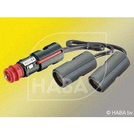 HABA 12v adapterkabel uni stekker 2x kontra