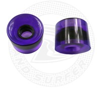Land Surfer Skateboard wheels transparent purple (set of 2 pieces)