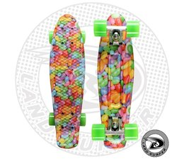 """Land Surfer skateboard """"candy"""" with green wheels"""