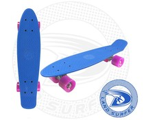 Land Surfer skateboard blue with pink wheels