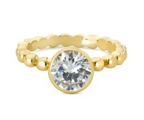 Speechless Jewelry Ring - Bubbles with zirkonia stone – Gold Colored