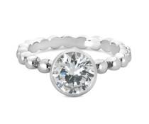 Speechless Jewelry Ring - Bolletjes met zirkonia steen - Verguld Zilverkleurig