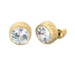 Speechless Jewelry - Oorbellen - Aim for the stars - Verguld Goudkleurig