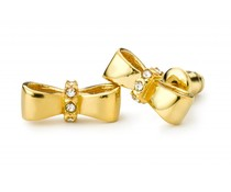 Speechless Jewelry Earrings - Bow - Gold Colored