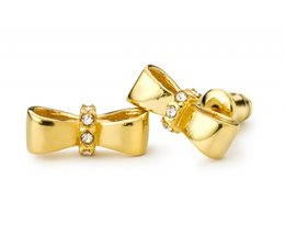 Speechless Jewelry Ohrringe - Schleife - Gelb Gold-Plating