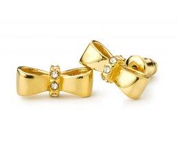 Speechless Jewelry Oorbellen - Strikje - Verguld Goudkleurig