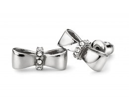 Speechless Jewelry Earrings - Bow - Silver Colored