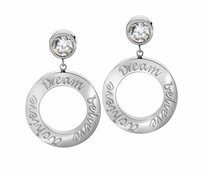Speechless Jewelry Ohrringe - Dream Believe Erreichen - WeißGold- Platting