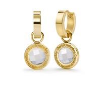 Speechless Jewelry Ohrringe - Cherish yesterday, dream tomorrow, live today - Gelb Gold-Plating