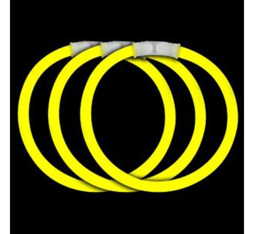 Gele glow armbanden