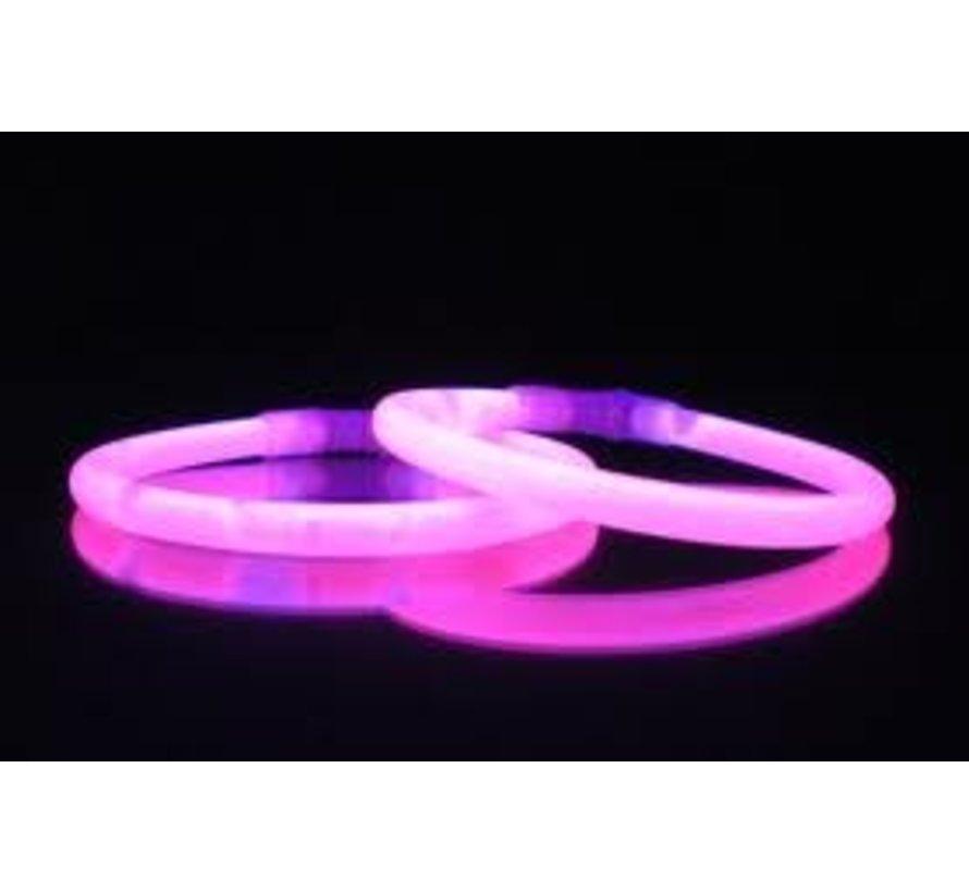 Roze glow armbanden