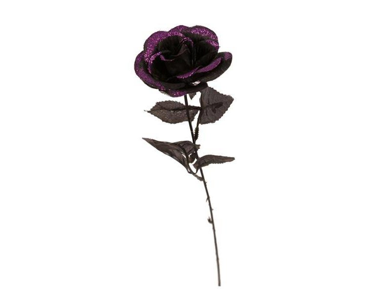Deco Rose Black Glitter