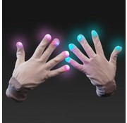 Breaklight Multicolor LED Gloves- White