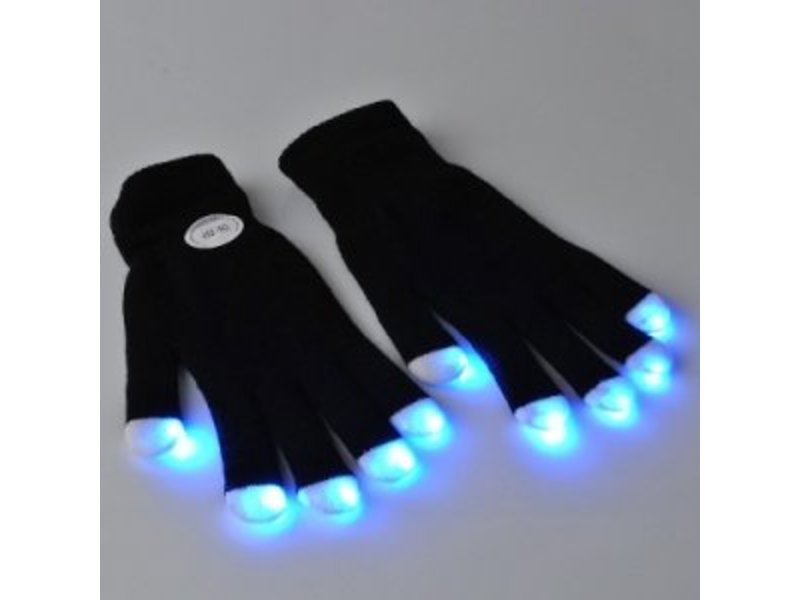 Breaklight Led Handschoenen - Zwart