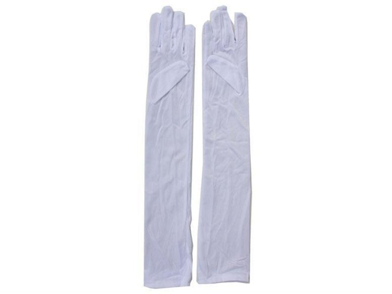 Gants Blancs Long 55cm