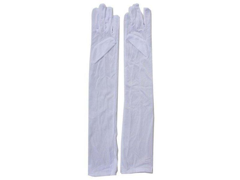 Witte Handschoenen Lang 55cm
