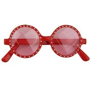 Glasses Heart Print
