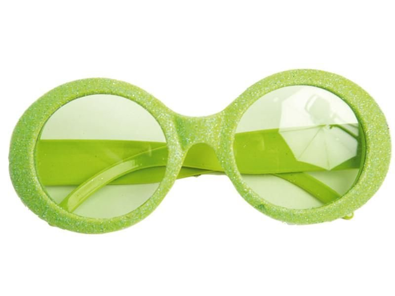 Glasses Disco Glitter Neon Green