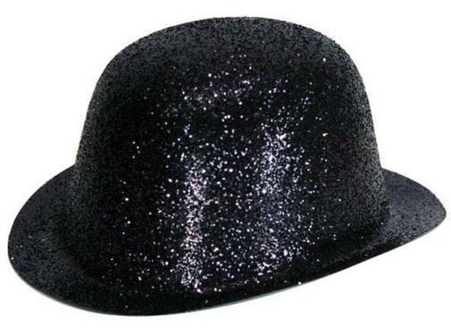 Chapeau Melon Plastique Brillant Noir