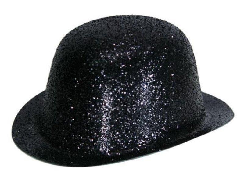 Bolhoed Plastic Glitter Zwart