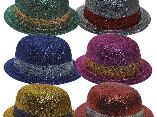 Bolhoed Plastic Glitter (6 ass)