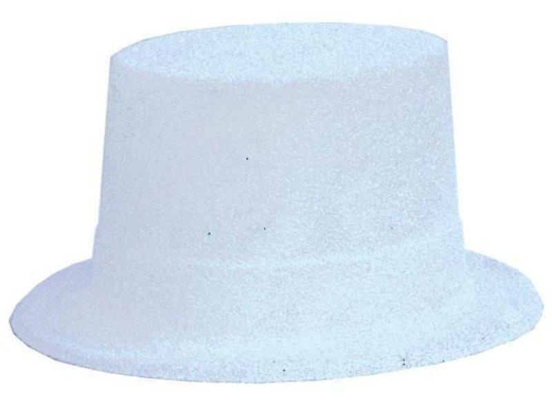 Chapeau Haut Plastique Brillant Blanc