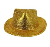 Chapeau Borsalino Plastique Brillant Or