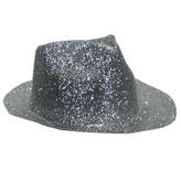 Borsalino Hat Plastic Glitter Silver