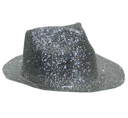 Chapeau Borsalino Plastique Brillant Argent