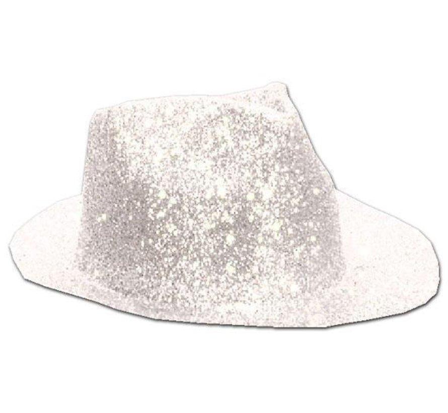 Chapeau Borsalino Plastique Brillant Blanc