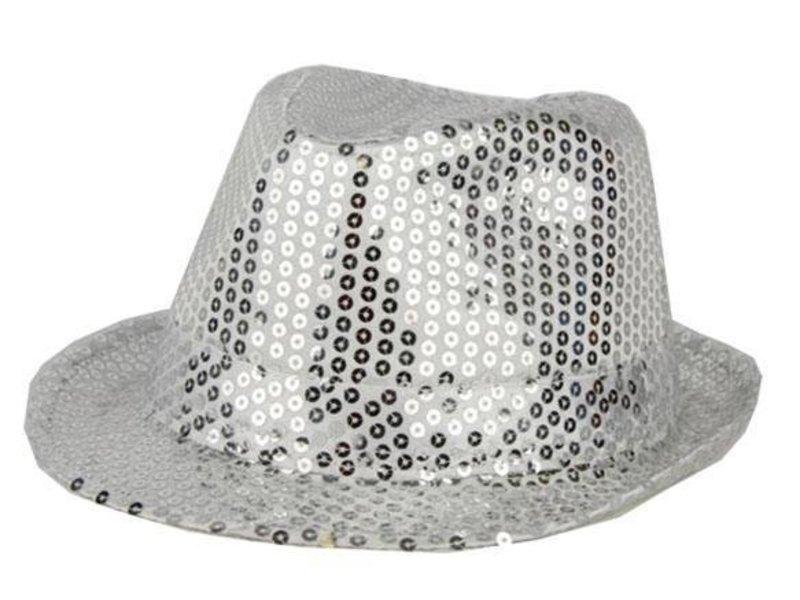 Hat Funk Sequin Silver