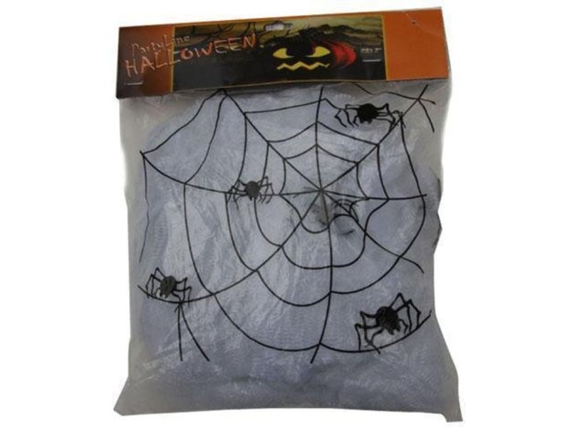 Spinneweb wit 100g+4spin